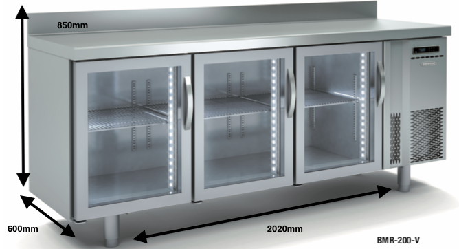 Bajo mostrador congelación DOCRILUC BMC-200 V