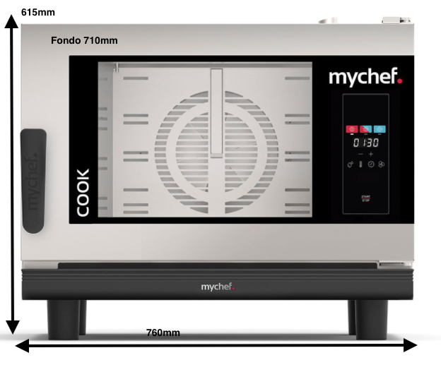 Horno eléctrico MyChef Cook Up 4 GN 1/1