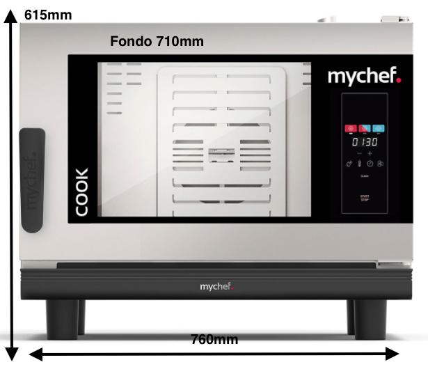 Horno eléctrico MyChef Cook Pro 4 GN 1/1