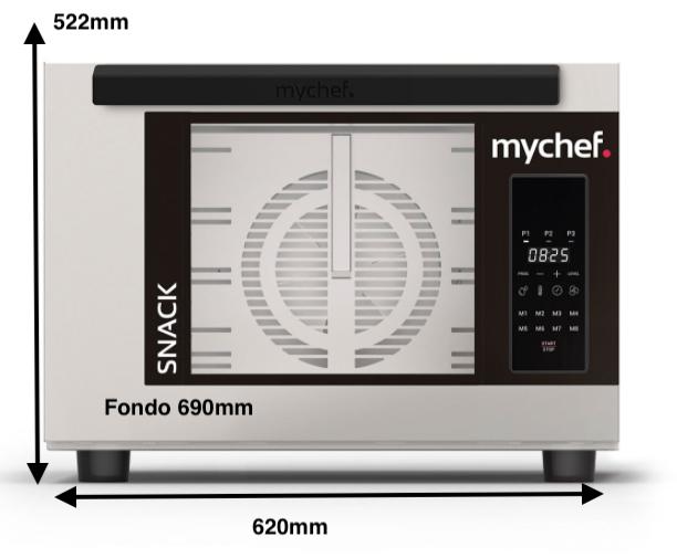 Horno eléctrico MyChef Snack 4 GN 2/3