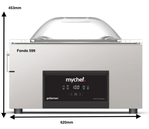 Envasadora MyChef GoSensor L20(Doble barra soldadura)